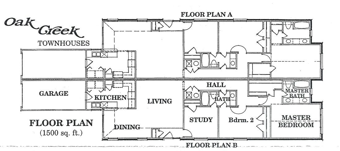 Floor Plans Oak Creek Apartments Townhousesennis