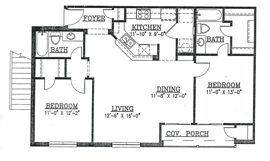 Floor Plans Oak Creek Apartments TownhousesEnnis Texas 75119 – Ennis Homes Floor Plans